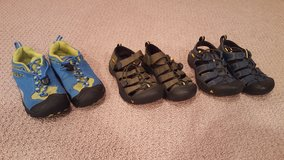 Size 13 Keens Boys Tennis Shoes and Sandals in Bartlett, Illinois