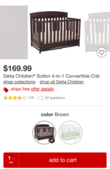 4-in-1 crib with mattress in Fort Rucker, Alabama