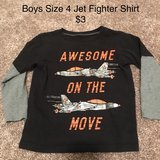 Boys Size 4 Fighter Jet Shirt in Oswego, Illinois