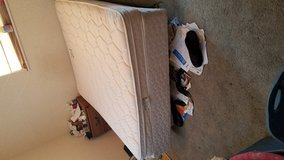 Bed  mattres box spring  and metal  frame in Leesville, Louisiana
