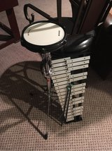 Drum pad and bell set used for percussion set in District 204 band in Oswego, Illinois