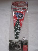"Tennessee Titans 4 x 9"" Set of 10 Mini Holiday Banner Pennants in Fort Campbell, Kentucky"