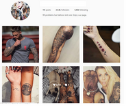 36K Tattoo Instagram Account with 2K likes in Los Angeles, California
