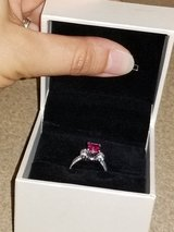 Custom Made 18K White Gold & Pink Sapphire Ring in Fort Knox, Kentucky