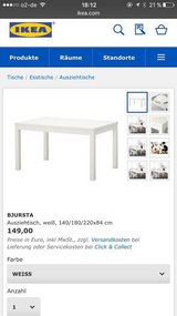 BJURSTA WHITE IKEA Dining room table/craft table in Baumholder, GE