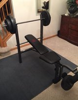CAP BARBELL 85lb WEIGHT BENCH in Shorewood, Illinois
