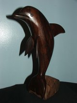 Beautiful Dolphin Carved Wooden Sculpture Figurine in Bolingbrook, Illinois