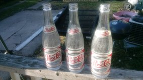 3-Vintage 12-Ounce Glass Pepsi Bottles in Quad Cities, Iowa