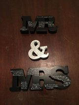 Mr & Mrs  signs in Fort Campbell, Kentucky