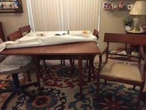 Cherry wood Drop leaf table & 6 chairs in Camp Lejeune, North Carolina