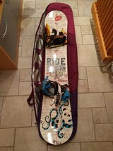 156cm Ride Crush Wide Snowboard   Flow bindings   Nitro Boots 13    Burton Travel Bag in Ramstein, Germany