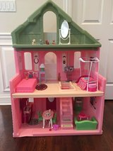 Durable Step2 Grand Balcony Dollhouse for Barbie Dolls - Filled with Furniture & Accessories in Glendale Heights, Illinois