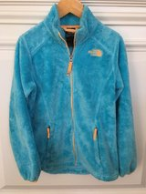 Girls North Face Fleece Zip-Front Jacket - Blue Size 10-12 in Bolingbrook, Illinois