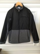 Boys Columbia Fleece Jacket - Black and Gray Size 10-12 in St. Charles, Illinois