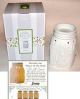 Scentsy Let It Snow Electric Wax Warmer White Christmas Snowman 2015 Holiday Exclusive in Kingwood, Texas