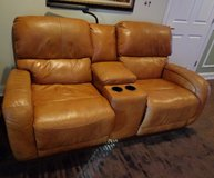 Leather Love Seat with Console in Warner Robins, Georgia