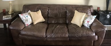 Brown leather couch and loveseat in Warner Robins, Georgia