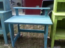 Reduced! Distressed turquoise desk in Conroe, Texas