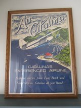 Framed Catalina Airlines Seaplane Poster in Yucca Valley, California
