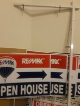 Real estate Re/Max open house signs in Bolingbrook, Illinois