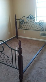 Queen headboard and bed rails in Warner Robins, Georgia