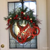 Christmas wreath in Fort Hood, Texas