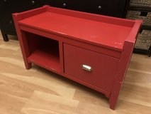 Red Bench with Storage in Shorewood, Illinois