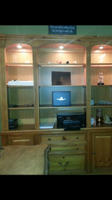 Bookcase with built in file cabinet in Bolingbrook, Illinois