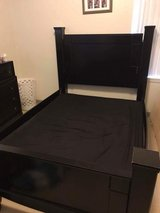 Queen size bed frame and box spring in Fort Hood, Texas