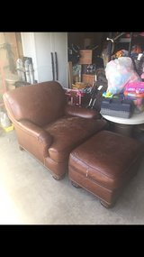 genuine brown leather chair in Fort Irwin, California