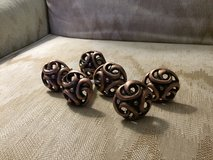 Set of 6 Copper colored Drawer / Cabinet pulls in Naperville, Illinois