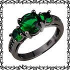 New - Green Emerald Quartz and Black Ring - Size 7 and 8 in Alamogordo, New Mexico