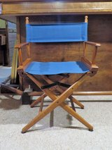 Large Blue Canvas Director Chair in Wheaton, Illinois