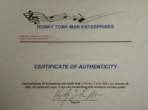 Honky Tonk Man Autographed Mini Guitar in Ottumwa, Iowa
