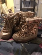 Size 6 Golden glitter boots in Travis AFB, California