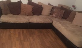 Microsuede Sectional Couch and Swivel Loveseat in Ramstein, Germany