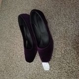 Purple faux suede womens 8.5 shoes in Warner Robins, Georgia