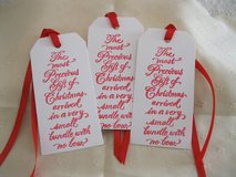 SALE - 8 Large Christmas Gift Tags Handmade in Ramstein, Germany