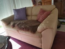Leather Couch beige in Ramstein, Germany