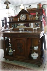 antique tiger oak credenza on sale at Angel Antiques in Ramstein, Germany