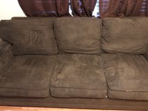 brown microfiber couch in Beaufort, South Carolina