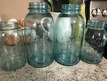 4 Blue Vintage Ball Jars (2 half gallon 2 quart) in Dover, Tennessee