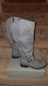 Maurices 7.5M wide calf gray boots NIB in Nellis AFB, Nevada