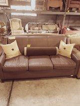 Brown leather Couch in Wilmington, North Carolina