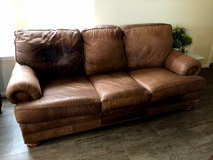Thomasville Real Leather Couch Brown in Kingwood, Texas