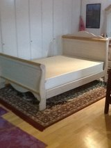 Bed - Sleigh - Double with Box Spring Matress in Ramstein, Germany