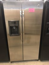 GE stainless side by side refrigerator in Wilmington, North Carolina