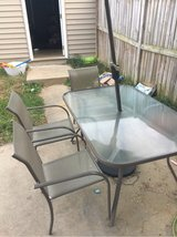 patio table 4 chairs and umbrella in Quantico, Virginia