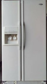 Whirlpool Side by Side White Refrigerator in Temecula, California