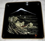 Japanese Lacquered Serving Tray in Okinawa, Japan